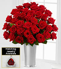 The Floral Gemstone Red Garnet Rose Bouquet