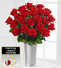 Floral Jewels&#153; January Garnet Birthstone Bouquet
