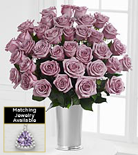 The Floral Gemstone Lavender Amethyst Rose Bouquet