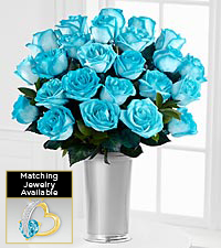 Floral Jewels&#153; March Aquamarine Birthstone Bouquet