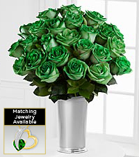 Floral Jewels&#153; May Emerald Birthstone Bouquet