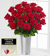 Floral Jewels&#153; July Ruby Birthstone Bouquet