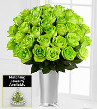 Floral Gemstone Green Grandeur Peridot Rose Bouquet