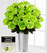 Floral Jewels&#153; August Peridot Birthstone Bouquet