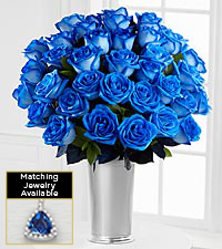 Floral Gemstone Blue Moon Sapphire Rose Bouquet