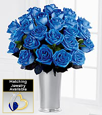 Floral Jewels&#153; September Blue Sapphire Birthstone Bouquet