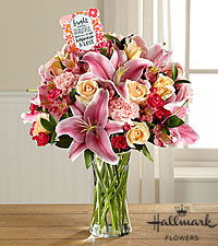 The FTD ® Happiness Blooms When We Share It Bouquet by Hallmark- VASE INCLUDED