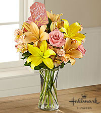 The FTD ® Happy Today Bouquet by Hallmark -VASE INCLUDED