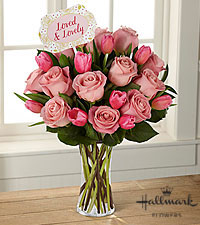 The FTD ® Loved & Lovely Bouquet by Hallmark -VASE INCLUDED