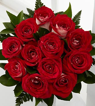 Passion™ for Fun Rose Bouquet - 12 Stems of 20-inch Roses, No Vase