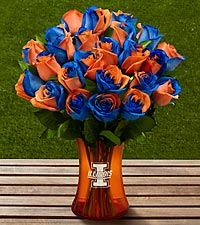 The FTD® University of Illinois™ Fighting Illini® Rose Bouquet - VASE INCLUDED