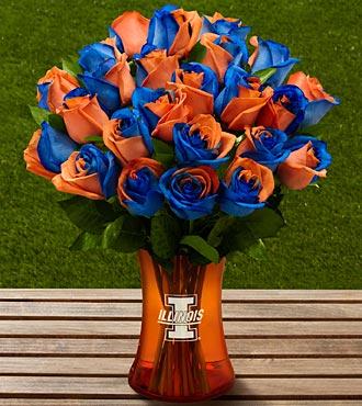 The FTD� University of Illinois? Fighting Illini� Rose Bouquet