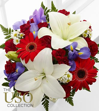 Star-Spangled Happiness Bouquet - 13 Stems
