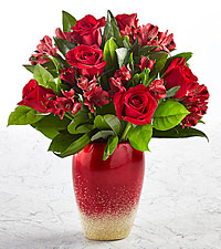 Red Riches Bouquet - VASE INCLUDED