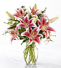 Up Among the Stars Lily Bouquet - VASE INCLUDED