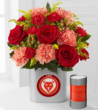 The FTD® Discovering Your Star Leo Zodiac Flower Bouquet - 12 Stems - VASE INCLUDED