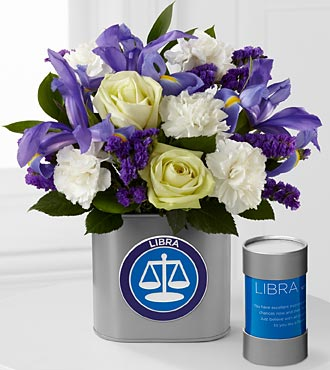 The FTD® Discovering Your Star Libra Zodiac Flower Bouquet - 12 Stems - VASE INCLUDED