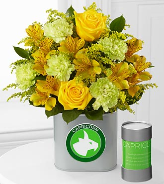 The FTD&reg; Discovering Your Star Capricorn Zodiac Flower Bouquet - 10 Stems - VASE INCLUDED