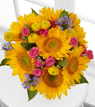 Dazzling Days Sunflower Bouquet - 14 Stems - No Vase