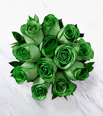 Floral Jewels&trade; May Emerald Birthstone Bouquet - 12 Stems, No Vase