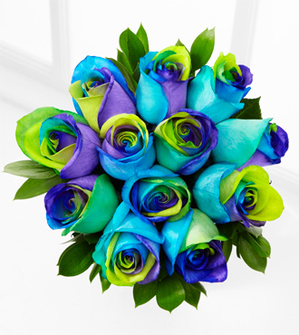 Floral Jewels™ October Opal Birthstone Bouquet - 12 Stems, No Vase