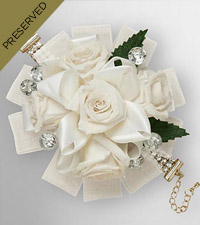 Keepsake Roses&trade; White Wristlet by FTD&reg;