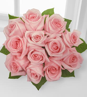 The Floral Gemstone Rhodolite Rose Bouquet - 12 Stems, No Vase