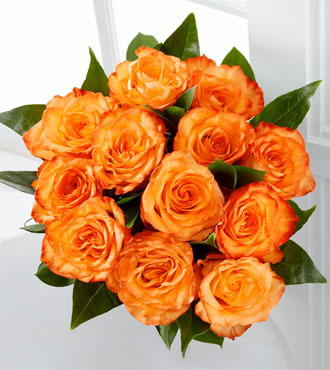 The Floral Gemstone Citrine Rose Bouquet - 12 Stems, No Vase