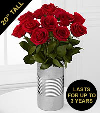 The FTD&reg; Red Keepsake Rose&trade; Bouquet - 12 Stems - VASE INCLUDED