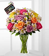 You're on Your Way Graduation Bouquet - 20 Stems - VASE INCLUDED