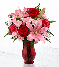 Heart 's Emotions Valentine 's Day Bouquet - VASE INCLUDED