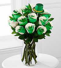 Luck of the Irish St. Patrick's Day Bouquet - 12 Stems - VASE INCLUDED