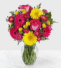 Let Me See You Smile Mixed Flower Bouquet - VASE INCLUDED