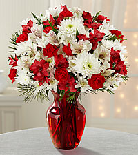 Joy to the World Holiday Bouquet -VASE INCLUDED