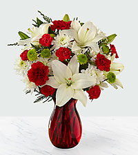 Season 's Sweetness Holiday Bouquet - VASE INCLUDED