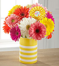 Sunny Celebrations Birthday Bouquet - VASE INCLUDED