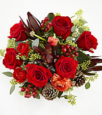 Season of Love Holiday Bouquet - No Vase