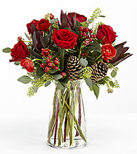 Season of Love Holiday Bouquet - VASE INCLUDED