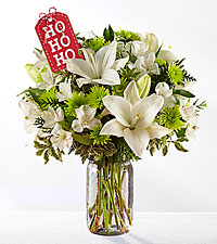 Happy Ho Ho Ho To You Holiday Bouquet - VASE INCLUDED