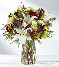 Winter Brights Holiday Bouquet - VASE INCLUDED