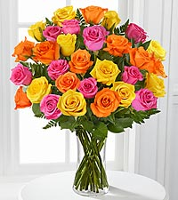 30 Long Stem Mixed Rose Bouquet