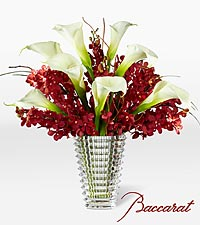 Rush of Beauty Bouquet with Baccarat ® Crystal Vase