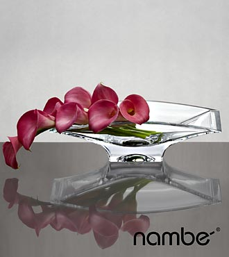 Dream Destinations Calla Lily Bouquet in Nambé Crystal Decorative Bowl