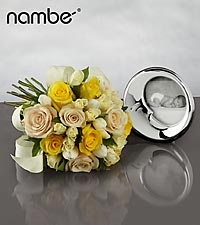 New Beginnings Bouquet with Baby Nambé Sleep Frame