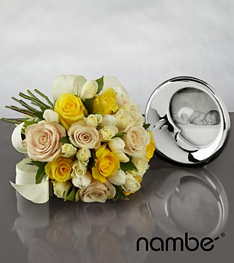 New Beginnings Bouquet with Baby Namb&eacute; Sleep Frame