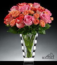 Essence of Grace Luxury Rose Bouquet in Rogaska Crystal