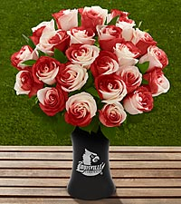 The FTD® University of Louisville® Cardinals™ Rose Bouquet - VASE INCLUDED