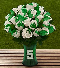The FTD® Michigan State University Spartans® Rose Bouquet - VASE INCLUDED