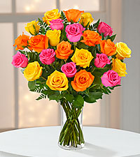 Bright Blush Rose Bouquet