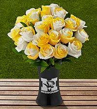 The FTD&reg; University of Missouri&reg; Tigers&trade; Rose Bouquet - VASE INCLUDED